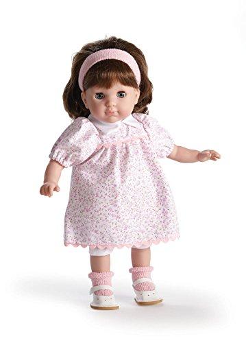 ジェーシートイズ 赤ちゃん おままごと ベビー人形 30000 JC Toys Brunette Toddler Doll, 14-Inch Soft Body Doll Dressed in Pretty Pink Flower Dress. Open and close eyes. Designed by BERENGUER for Chiジェーシートイズ 赤ちゃん おままごと ベビー人形 30000