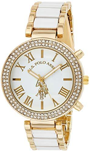 ユーエスポロアッスン 腕時計 レディース USC40065 【送料無料】U.S. Polo Assn. Women's USC40065 Gold-Tone and White Bracelet Watchユーエスポロアッスン 腕時計 レディース USC40065