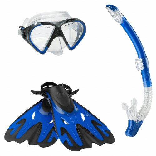 シュノーケリング マリンスポーツ 7530325-Blue-L/XL Speedo Hyperfluid Mask Snorkel Fin Set with Carrying Case, Blue, Large/X-Largeシュノーケリング マリンスポーツ 7530325-Blue-L/XL