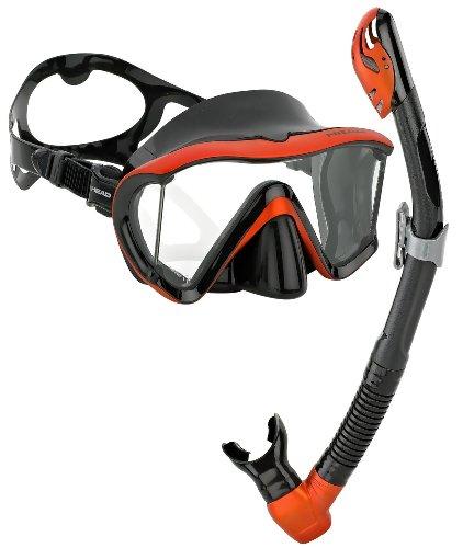 シュノーケリング マリンスポーツ HED-MANT-SS-BOR HEAD Scuba Panoramic Mask Dry Snorkel Set, Black Bronze Metallicシュノーケリング マリンスポーツ HED-MANT-SS-BOR