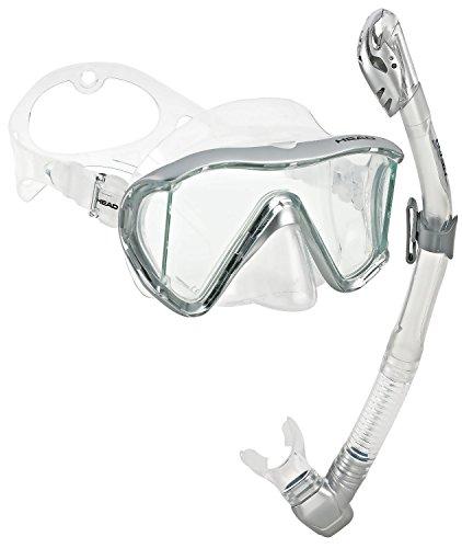 シュノーケリング マリンスポーツ HED-MANT-SS-MSL HEAD Scuba Panoramic Mask Dry Snorkel Set, Silver Metallicシュノーケリング マリンスポーツ HED-MANT-SS-MSL