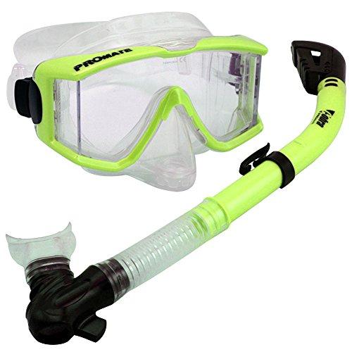 シュノーケリング マリンスポーツ Snorkeling Scuba Dive DRY Snorkel Side-View Purge Mask Diving Gear, n.Yellowシュノーケリング マリンスポーツ