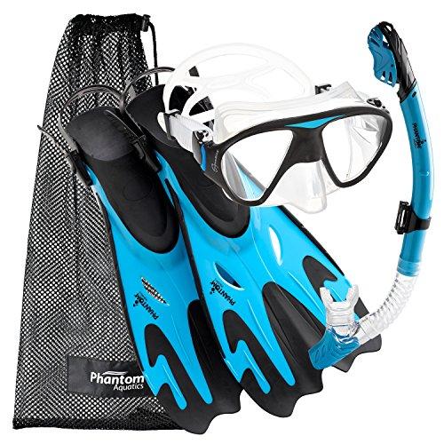 シュノーケリング マリンスポーツ PROFSIGMFS-AQ-SM 【送料無料】Phantom Aquatics Navigator Mask Fin Snorkel Setシュノーケリング マリンスポーツ PROFSIGMFS-AQ-SM