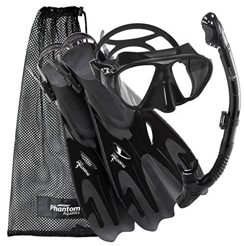 シュノーケリング マリンスポーツ PROFSIGMFS-BK-LG 【送料無料】Phantom Aquatics Navigator Mask Fin Snorkel Setシュノーケリング マリンスポーツ PROFSIGMFS-BK-LG