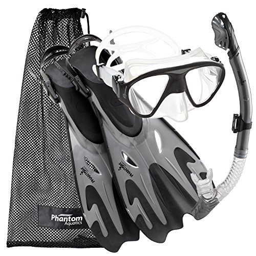 シュノーケリング マリンスポーツ PROFSIGMFS-SL-LG 【送料無料】Phantom Aquatics Navigator Mask Fin Snorkel Setシュノーケリング マリンスポーツ PROFSIGMFS-SL-LG