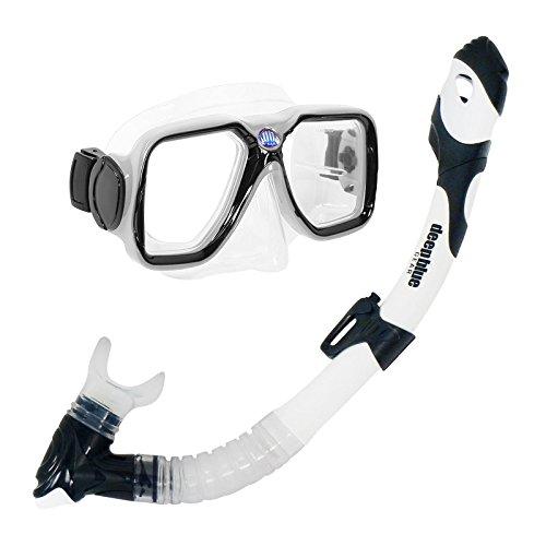 シュノーケリング マリンスポーツ DBG-CK-2550-WT Deep Blue Gear Maui Ultra Dry Diving Mask and Dry Snorkel Set, Adult, Whiteシュノーケリング マリンスポーツ DBG-CK-2550-WT