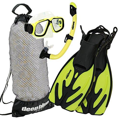 シュノーケリング マリンスポーツ DBG-AK-2802-YL Deep Blue Gear Kid's Maui Jr. Snorkel Set, Yellow, Large/X-Largeシュノーケリング マリンスポーツ DBG-AK-2802-YL