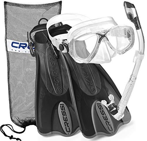 シュノーケリング マリンスポーツ CRSPSFSS-TT-ML Cressi Palau Mask Fin Snorkel Set with Snorkeling Gear Bag, TT-MLシュノーケリング マリンスポーツ CRSPSFSS-TT-ML