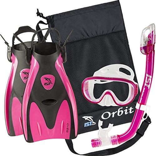 シュノーケリング マリンスポーツ IST Orbit Snorkel Set (Pink, Small (2-5))シュノーケリング マリンスポーツ