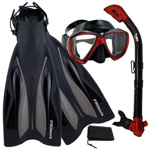 競売 シュノーケリング マリンスポーツ Promate Dry Deluxe Snorkeling マリンスポーツ RedBlack, Gear Scuba Diving Fins Mask Dry Snorkel Set, RedBlack, SMシュノーケリング マリンスポーツ, 電子タバコのはちみつ通り:60939906 --- canoncity.azurewebsites.net
