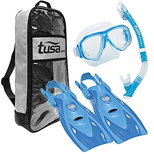 シュノーケリング マリンスポーツ UP-7221B-BL-M TUSA Sport Adult Splendive Mask, Dry Snorkel, and Fins Travel Set, Medium, Blueシュノーケリング マリンスポーツ UP-7221B-BL-M