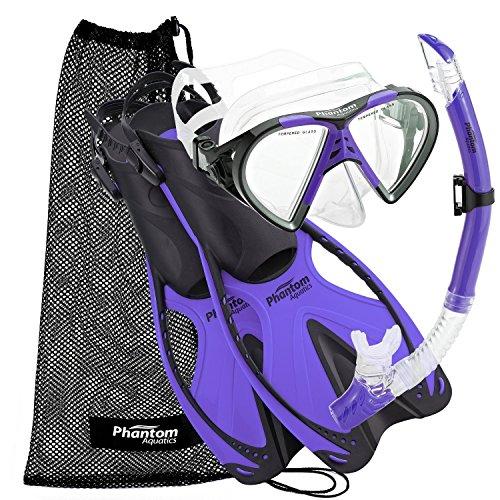 シュノーケリング マリンスポーツ PAQSMFS Phantom Aquatics Speed Sport Mask Fin Snorkel Set, Twilight, Large/X-Large/Size 9 to 13シュノーケリング マリンスポーツ PAQSMFS