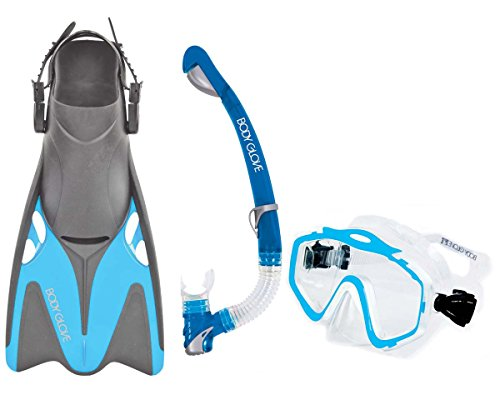 シュノーケリング マリンスポーツ 12802SET-XL/XXLAQUA Body Glove Women's EXO Mask and Snorkel Fins Combo Set, Aqua, X-Large/XX-Largeシュノーケリング マリンスポーツ 12802SET-XL/XXLAQUA