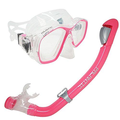シュノーケリング マリンスポーツ SCM278ST-PK-CB-2.0 Palantic Pink Jr. Snorkeling Prescription Dive Mask & Dry Snorkel Combo (-2.0)シュノーケリング マリンスポーツ SCM278ST-PK-CB-2.0