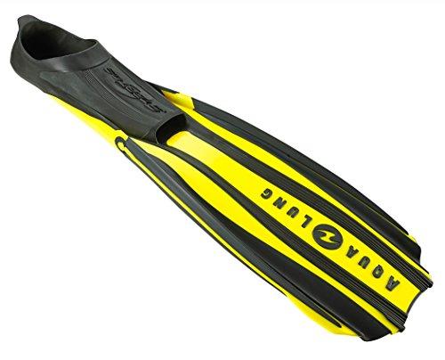 シュノーケリング マリンスポーツ Aqua Lung Stratos 3 Full Foot Diving Fins-Yellow-SMシュノーケリング マリンスポーツ