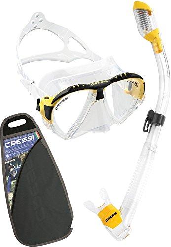 シュノーケリング マリンスポーツ CM100010 【送料無料】Cressi Matrix & Supernova Dry, clear/yellowシュノーケリング マリンスポーツ CM100010