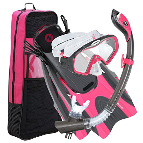 シュノーケリング マリンスポーツ 夏のアクティビティ特集 281078 U.S. Divers Pro LX+ Snorkel Set with Starbuck Iii LX Purge Mask, Gun Metal Pink, Small/Mediumシュノーケリング マリンスポーツ 夏のアクティビティ特集 281078