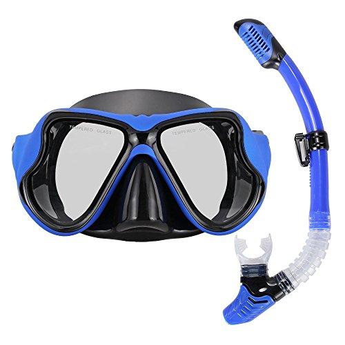 シュノーケリング マリンスポーツ BL16022202HK Diving Mask set Snorkeling Blocklite Dry Snorkel with Silicone Mouthpiece ideal for Swimming Diving Snorkelingシュノーケリング マリンスポーツ BL16022202HK