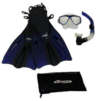 シュノーケリング マリンスポーツ 【送料無料】Tilos Silicone Mask, Purge Snorkel, Adjustable Open Heel Snorkeling Fins with Mesh Bag Set, Black, S/Mシュノーケリング マリンスポーツ