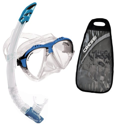 シュノーケリング マリンスポーツ DS302501 Cressi Matrix & Gamma, clear/blueシュノーケリング マリンスポーツ DS302501