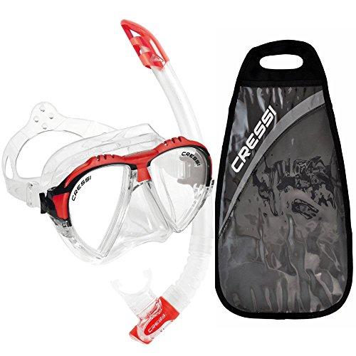 シュノーケリング マリンスポーツ DS302502 Cressi Matrix & Gamma, clear/redシュノーケリング マリンスポーツ DS302502