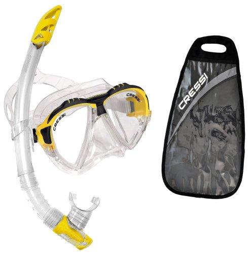 シュノーケリング マリンスポーツ DS302504 【送料無料】Cressi Matrix & Gamma, clear/yellowシュノーケリング マリンスポーツ DS302504