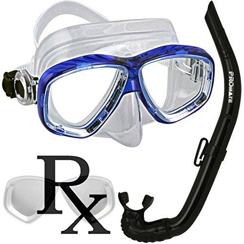 シュノーケリング マリンスポーツ Snorkel RX mask combo set Nearsighted prescription lens snorkeling diving maskシュノーケリング マリンスポーツ