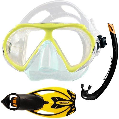 シュノーケリング マリンスポーツ Tilos Quantum Mask Vulcan Fins and Sport Snorkel Combo (Black/Red)シュノーケリング マリンスポーツ