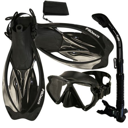 シュノーケリング マリンスポーツ 夏のアクティビティ特集 PROMATE Snorkeling Scuba Dive FishEyes Mask Fins DRY Snorkel Gear Set, YEL, S/Mシュノーケリング マリンスポーツ 夏のアクティビティ特集