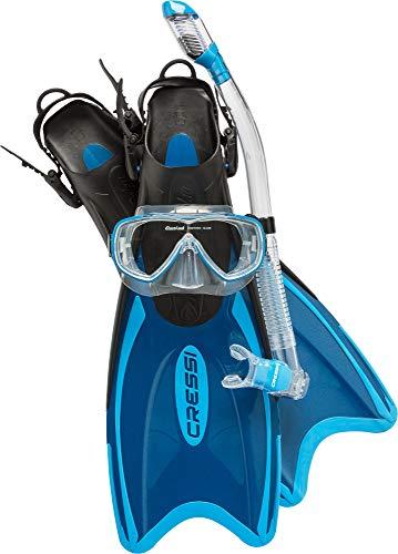 シュノーケリング マリンスポーツ SE102038 【送料無料】Cressi Palau LAF Set, blue, S/Mシュノーケリング マリンスポーツ SE102038