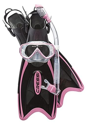 シュノーケリング マリンスポーツ SE104035 Cressi Palau LAF Set, pink, XS/Sシュノーケリング マリンスポーツ SE104035