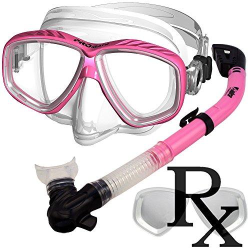 シュノーケリング マリンスポーツ Prescription Purge Mask Dry Snorkel Snorkeling Scuba Diving Combo Set, PKシュノーケリング マリンスポーツ
