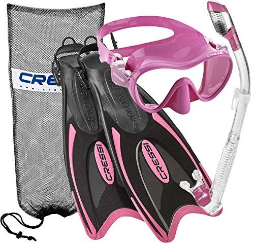 シュノーケリング マリンスポーツ 【送料無料】Cressi Palau Long Frameless Mask Fin Snorkel Set PK-SMシュノーケリング マリンスポーツ