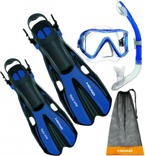 シュノーケリング マリンスポーツ 【送料無料】Head by Mares Mask Fin Snorkel Set - Large/X-Largeシュノーケリング マリンスポーツ