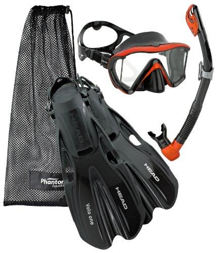 シュノーケリング マリンスポーツ Head Manta Mask Fin Snorkel Set, Black Bronze - MDシュノーケリング マリンスポーツ