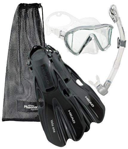 シュノーケリング マリンスポーツ Head Manta Mask Fin Snorkel Set, Metallic Silver - MDシュノーケリング マリンスポーツ