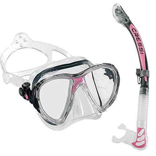 シュノーケリング マリンスポーツ CR-DS336040-ES258054 【送料無料】Cressi Big Eyes Evolution Mask and Alpha Ultra Dry Snorkel Combo, Clear/Pinkシュノーケリング マリンスポーツ CR-DS336040-ES258054