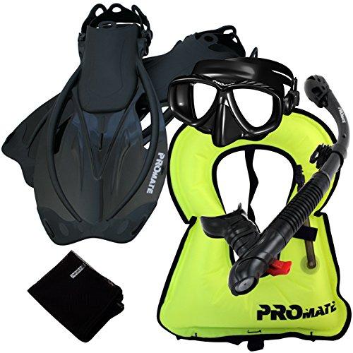 シュノーケリング マリンスポーツ 【送料無料】859001-ABk-SM, Snorkeling Vest Purge Mask Dry Snorkel Fins Mesh Bag Setシュノーケリング マリンスポーツ