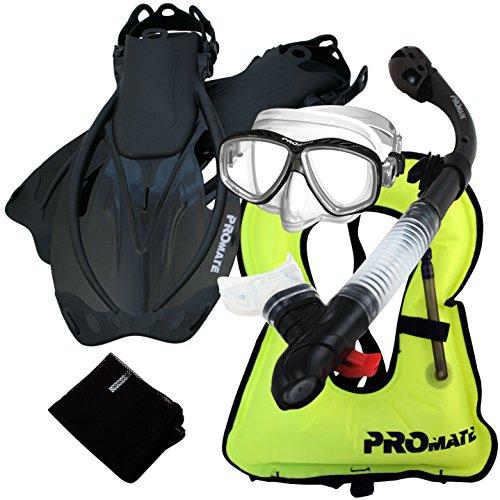 シュノーケリング マリンスポーツ 859001-Bk-SM, Snorkeling Vest PURGE Mask Dry Snorkel Fins Mesh Bag Setシュノーケリング マリンスポーツ