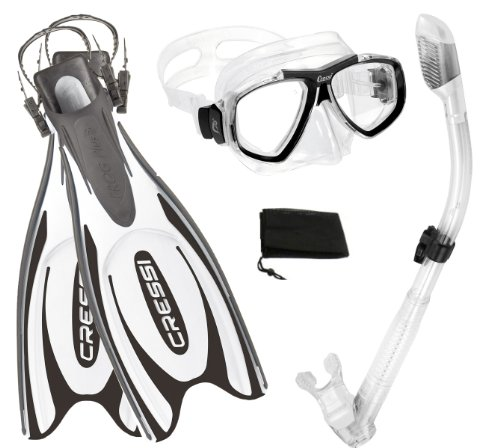 シュノーケリング マリンスポーツ CRSFPFSS WT-XS Cressi Frog Plus Fin Focus Silicone Mask Dry Snorkel Set, White, X-Small/Small/Men' s 5-7/Women's 6-8シュノーケリング マリンスポーツ CRSFPFSS WT-XS
