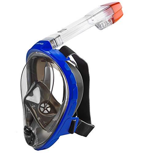 シュノーケリング マリンスポーツ 496325-BL BKS/M 【送料無料】HEAD Sea Vu Dry Full Face Snorkeling Mask, Small/Medium, Blueシュノーケリング マリンスポーツ 496325-BL BKS/M