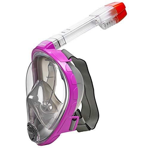 シュノーケリング マリンスポーツ 496325-PK GRS/M 【送料無料】HEAD Sea Vu Dry Full Face Snorkeling Mask, Small/Medium, Pinkシュノーケリング マリンスポーツ 496325-PK GRS/M
