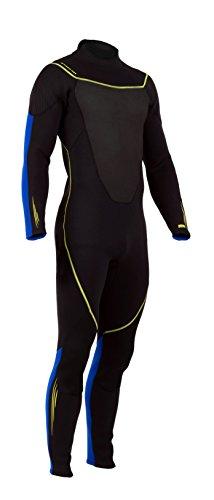 シュノーケリング マリンスポーツ 1003463 【送料無料】Deep See Men's 3mm Jumpsuit, Black/Royal Blue, Smallシュノーケリング マリンスポーツ 1003463