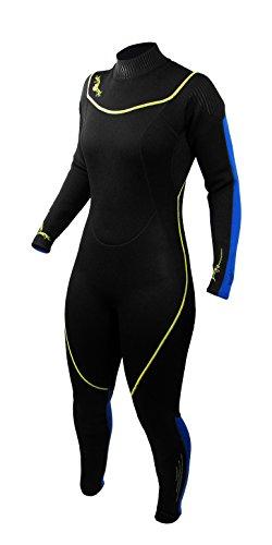 シュノーケリング マリンスポーツ 1003469 Deep See Women's 3mm Jumpsuit, Black/Royal Blue, Size 5/6シュノーケリング マリンスポーツ 1003469