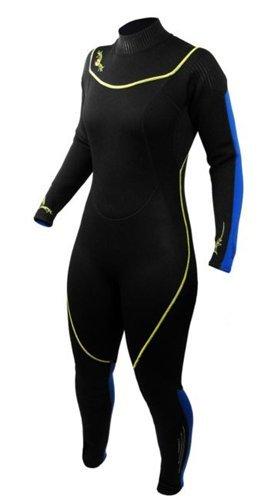 シュノーケリング マリンスポーツ 1003472 Deep See Women's 3mm Jumpsuit, Black/Royal Blue, Size 10/11シュノーケリング マリンスポーツ 1003472