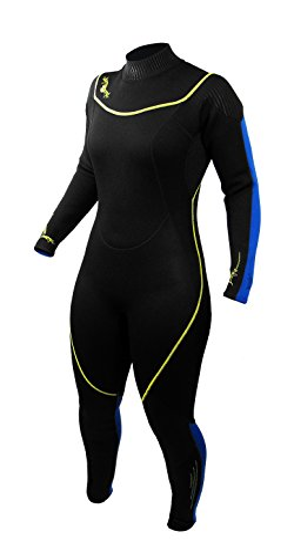 シュノーケリング マリンスポーツ 1003473 Deep See Women's 3mm Jumpsuit, Black/Royal Blue, Size 13/14シュノーケリング マリンスポーツ 1003473