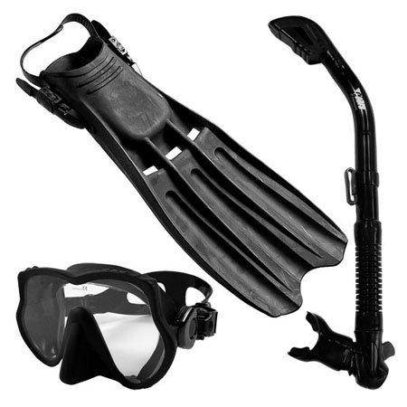 シュノーケリング マリンスポーツ Snorkeling Scuba Diving Mask Snorkel Fins Gear Set, eXtraLargeシュノーケリング マリンスポーツ