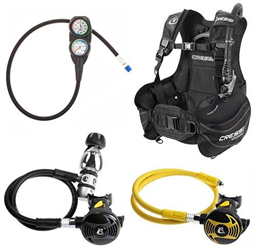 シュノーケリング マリンスポーツ 【送料無料】Cressi Start BCD Regulator Scuba Gear Package (Black BCD, X-Large)シュノーケリング マリンスポーツ