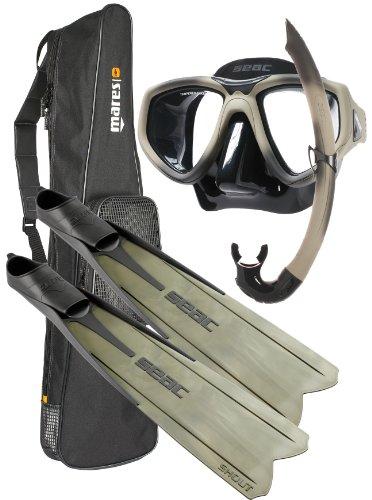 シュノーケリング マリンスポーツ SSBSCMFS_6-7 SEAC Sub Shout S900 Spearfishing/Freediving Mask Fin Snorkel Set, 6-7 (39/ 40)シュノーケリング マリンスポーツ SSBSCMFS_6-7
