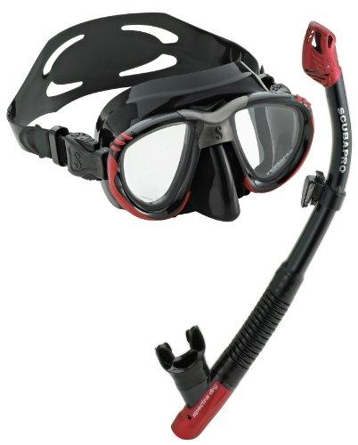 シュノーケリング マリンスポーツ 夏のアクティビティ特集 SCUBAPRO Scout Mask Spectra Dry Snorkel Combo - Black/Redシュノーケリング マリンスポーツ 夏のアクティビティ特集
